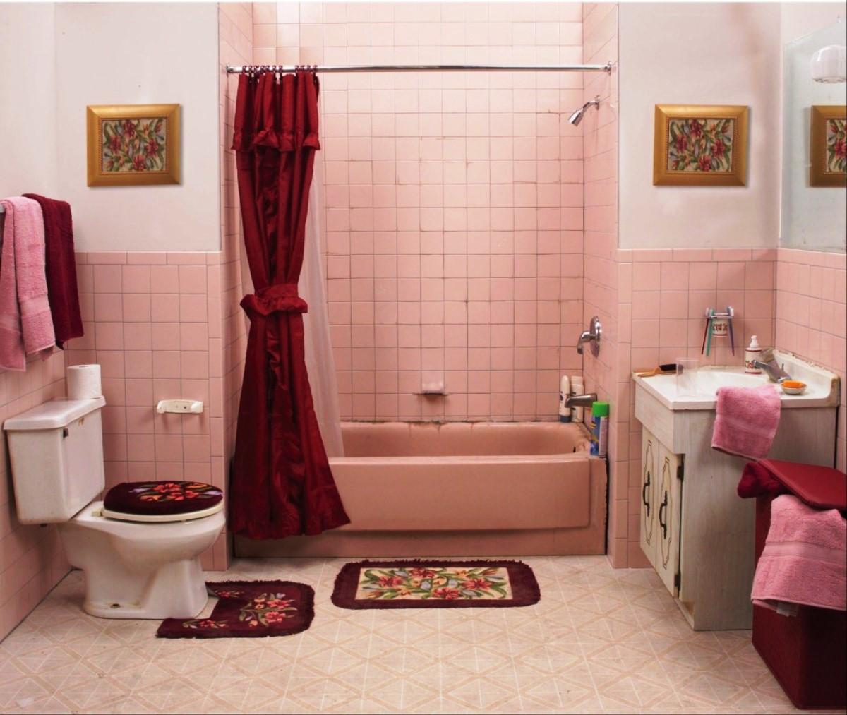 Cute bathroom in the dormitory