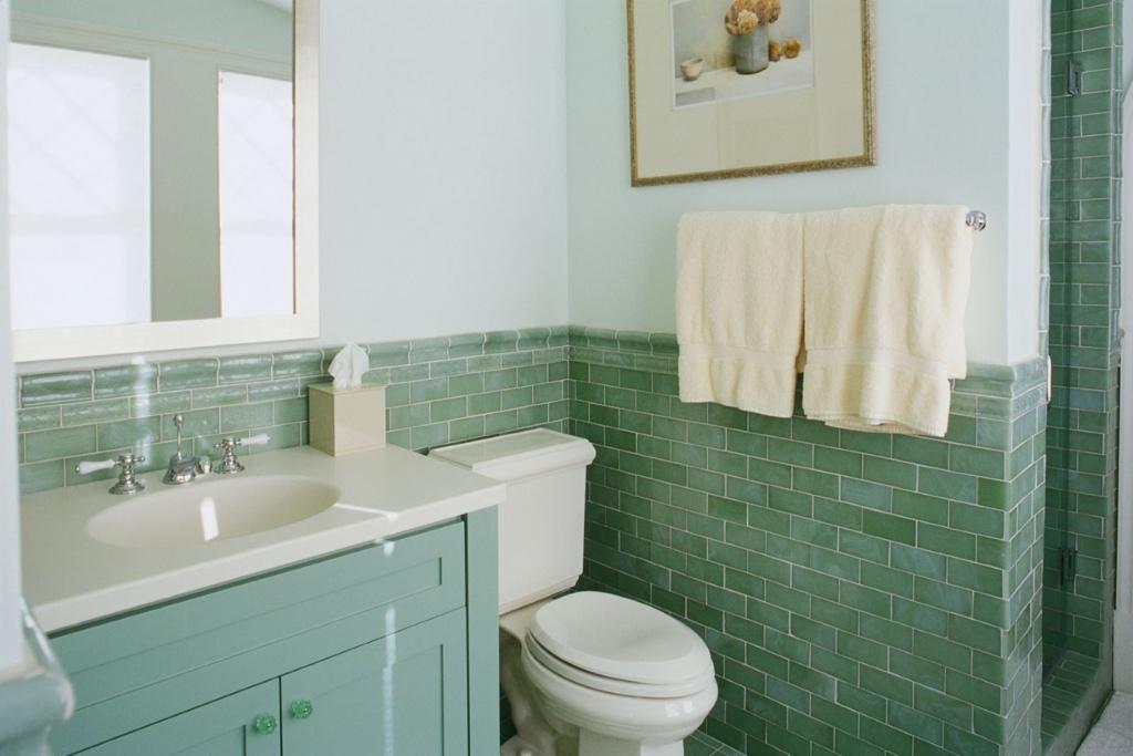 Fresh bathroom in the dormitory