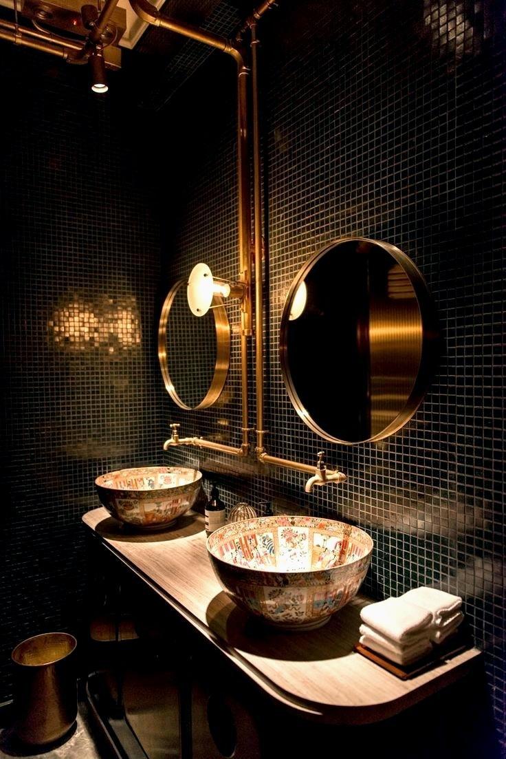 Dramatic steampunk bathroom