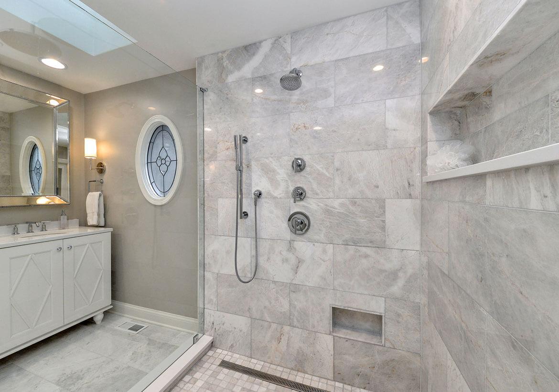 Impressive marble bathroom