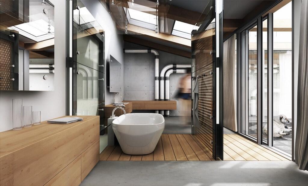 Creative steampunk bathroom