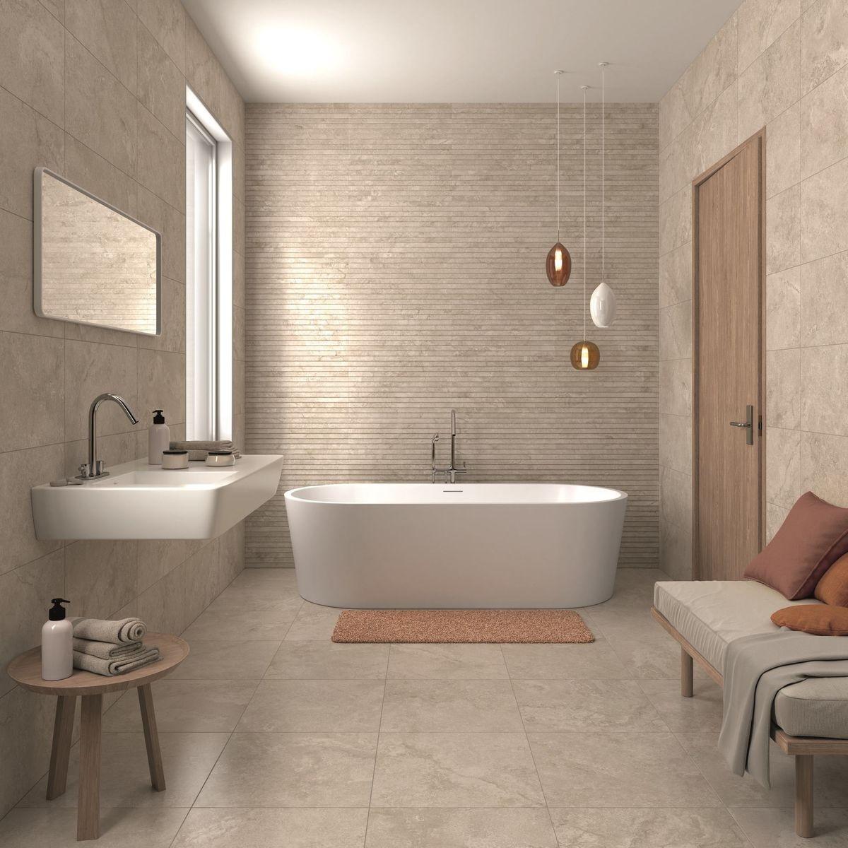 Soft marble bathroom