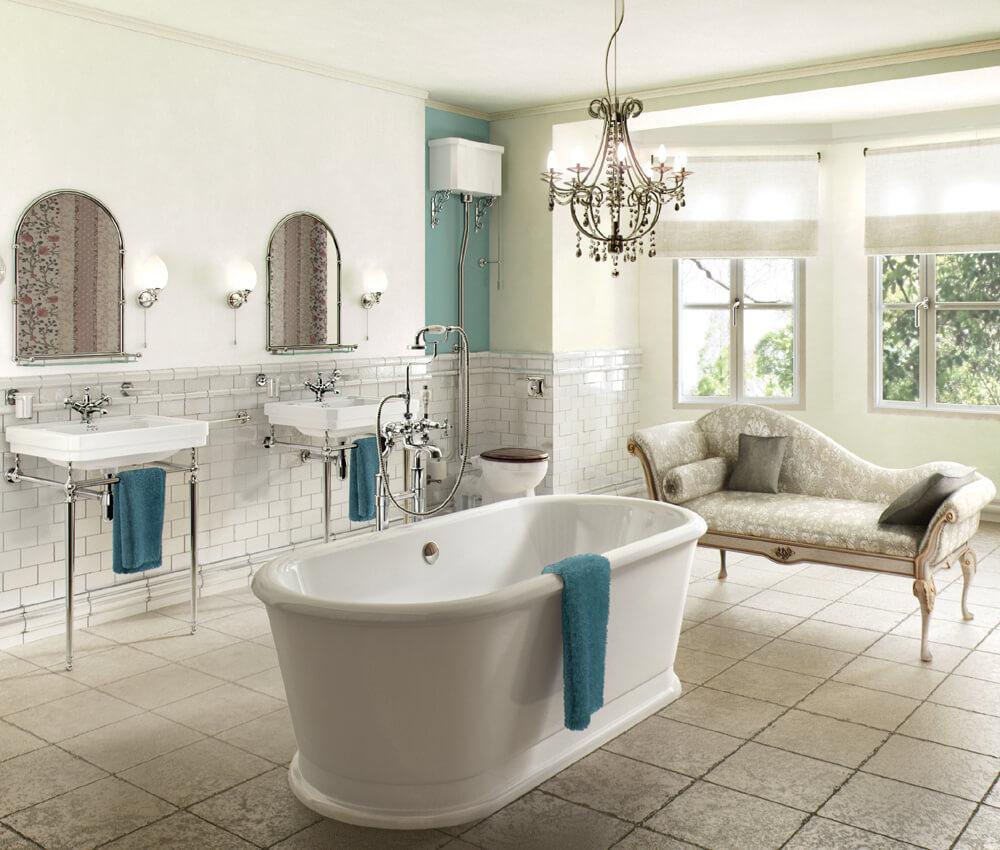 Modern classic large bathroom