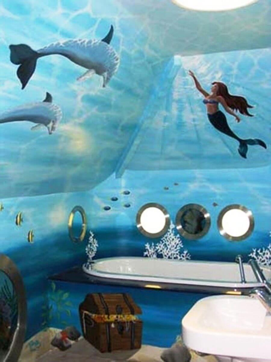 Notable mermaid bath