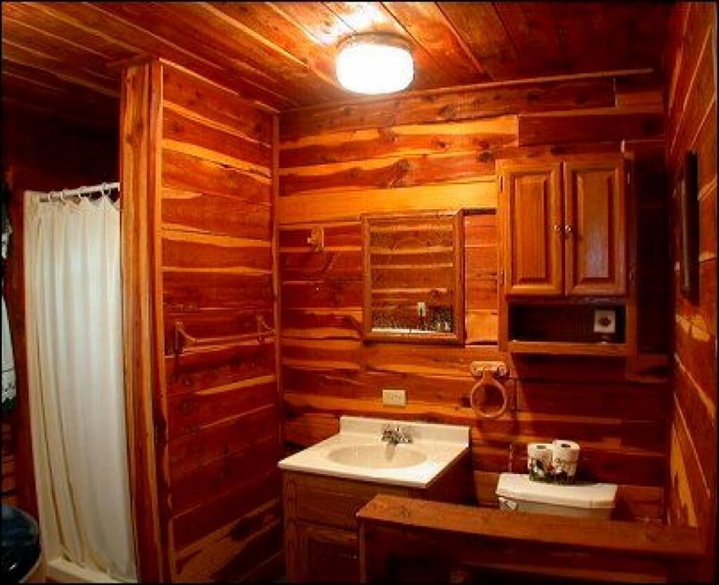 Quiet cabin bathroom