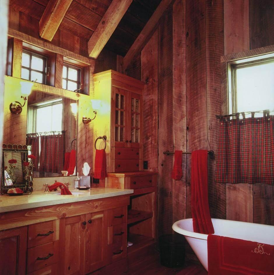Remarkable cabin bathroom
