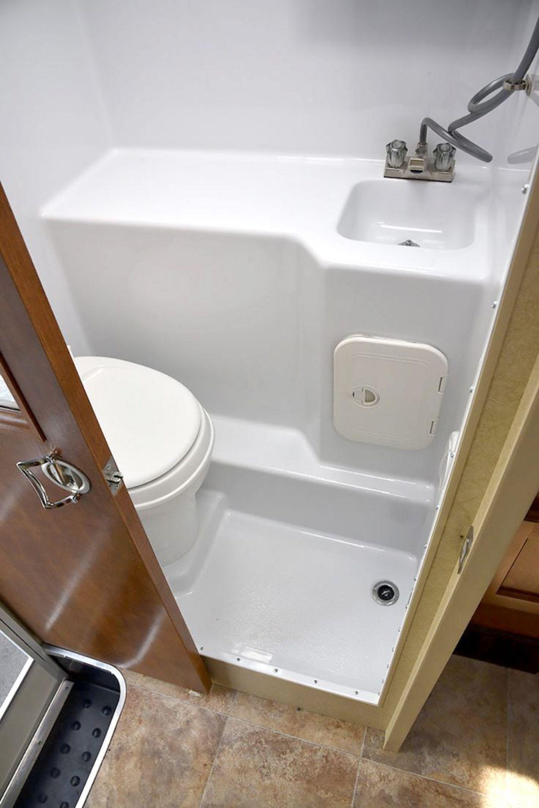 Tiny RV bathroom