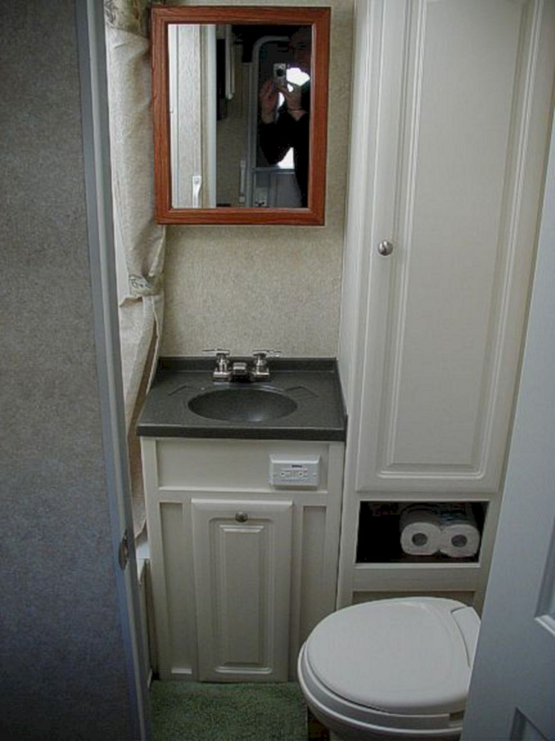 Seductive RV bathroom