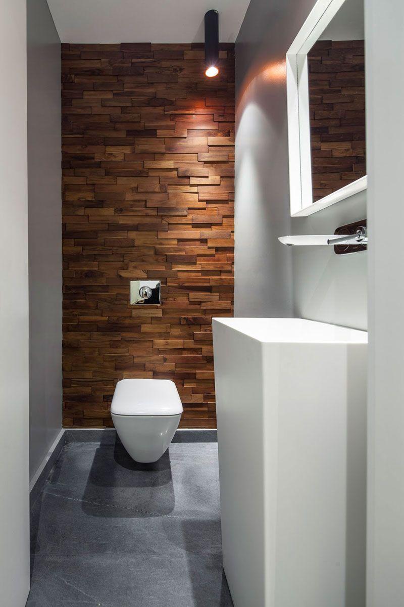 Earthy bathroom wall