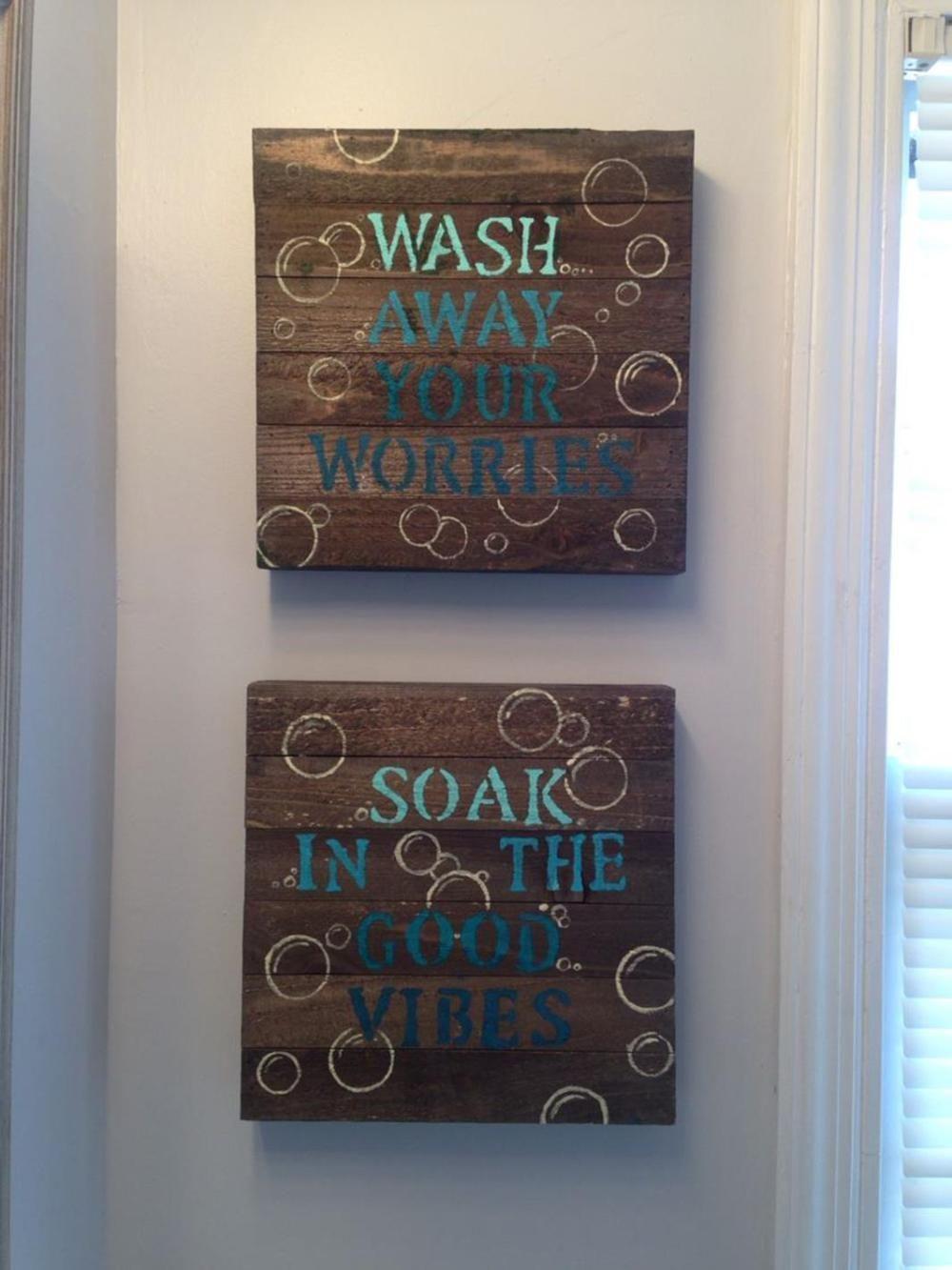 Motivational bathroom sign