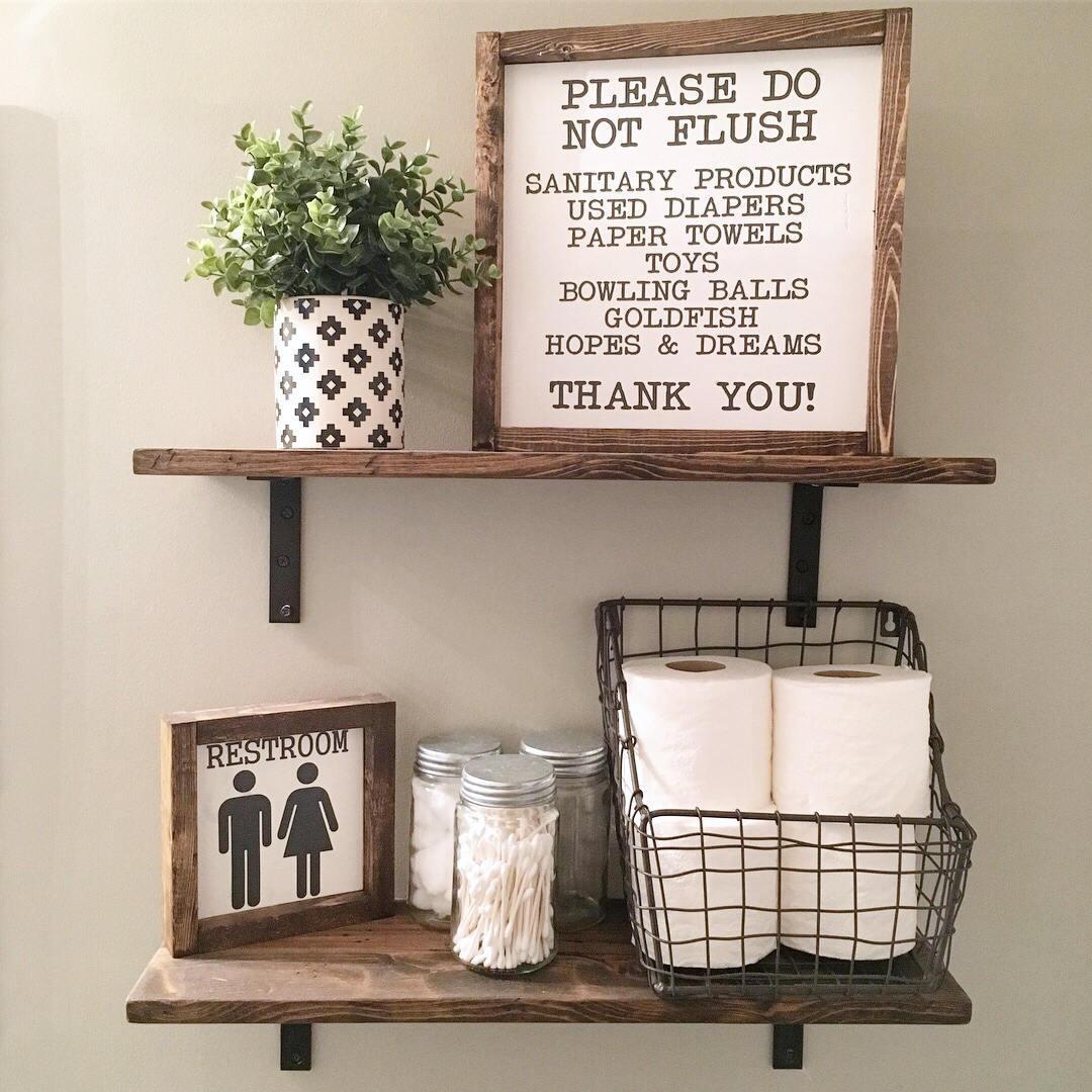Simple bathroom sign
