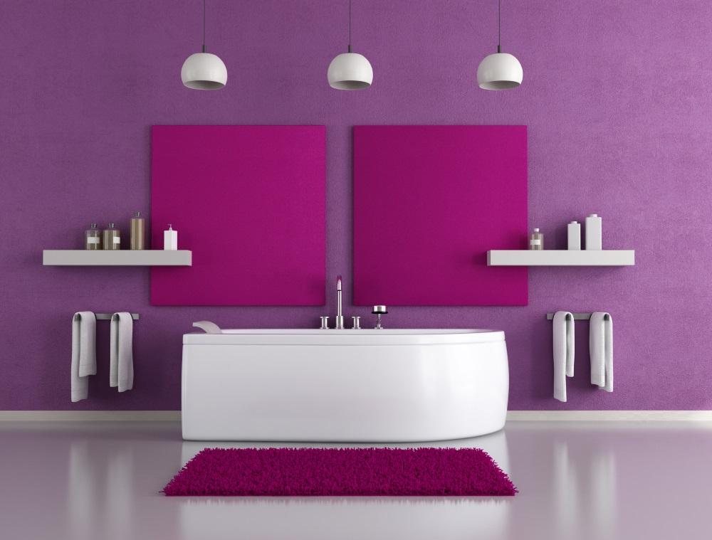 Bold large bathroom