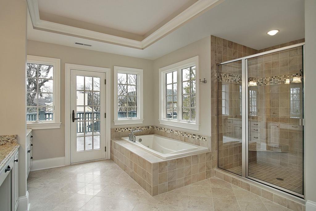Open large bathroom