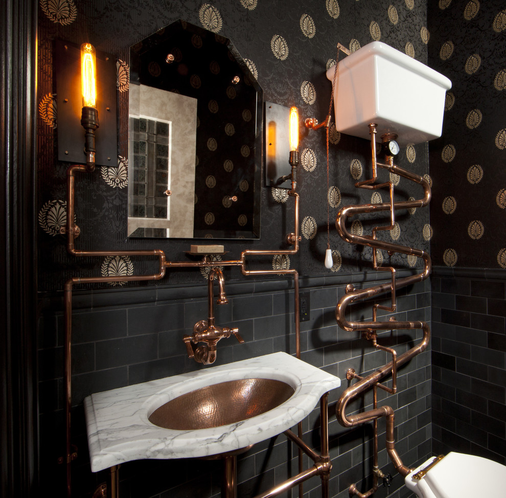 Exciting steampunk bathroom