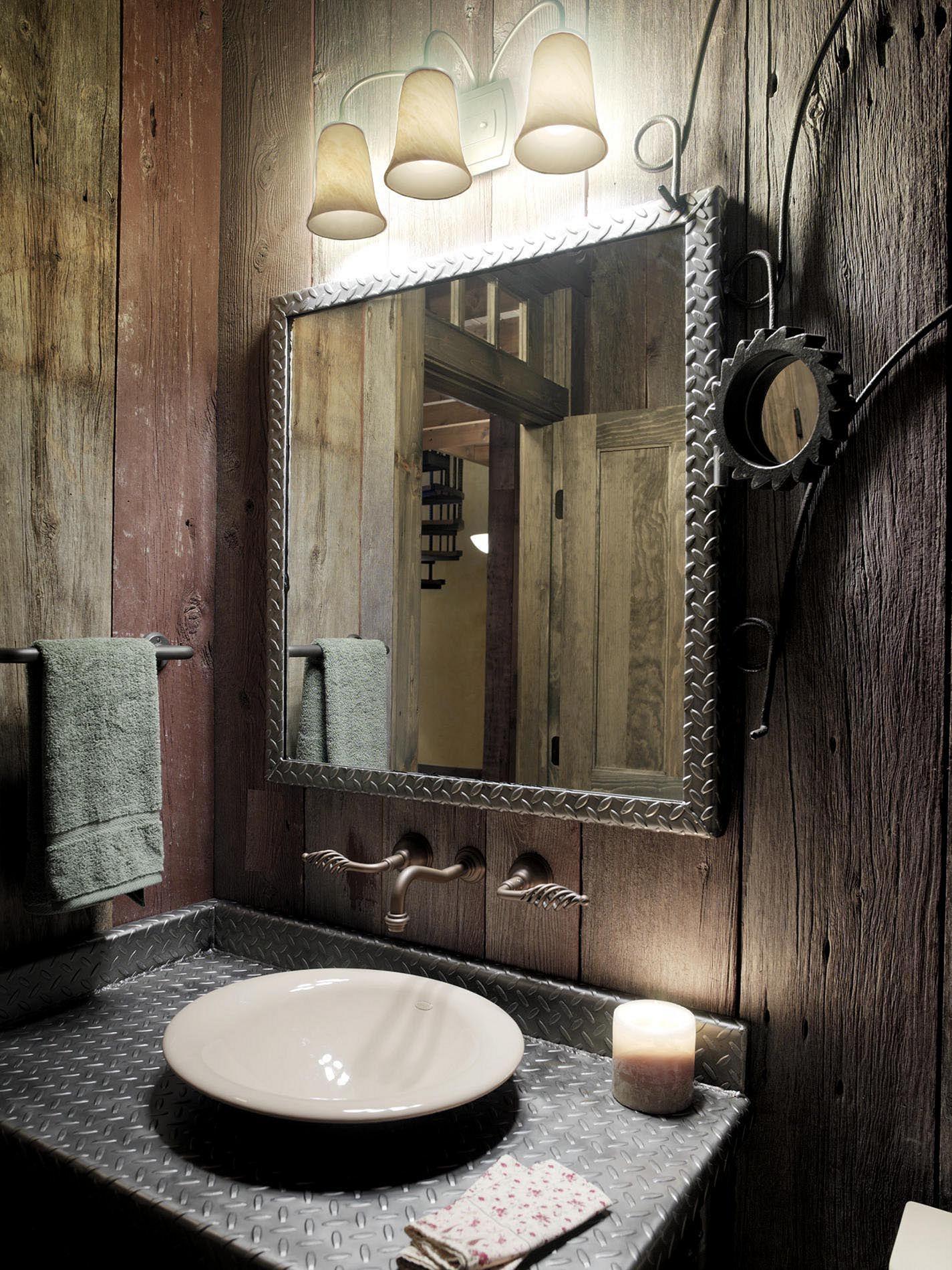 Traditional steampunk bathroom