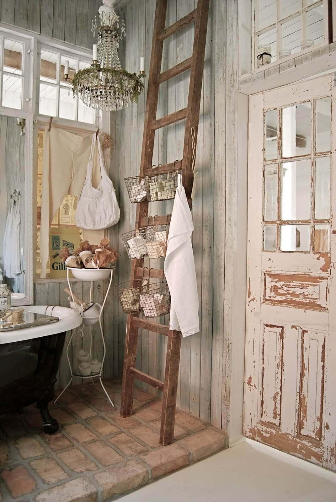 Fascinating shabby chic bathroom