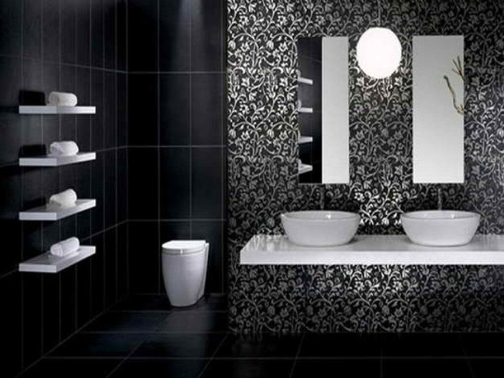 Minimalist black bathroom