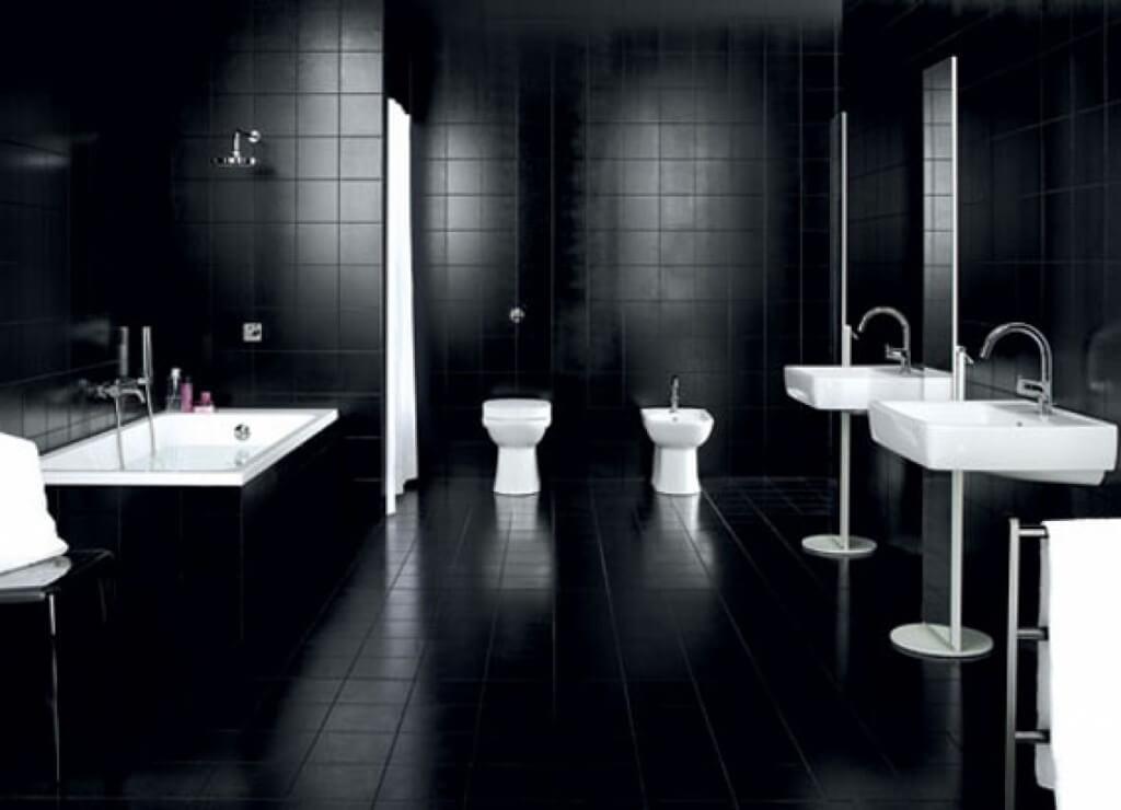 Mysterious black bathroom