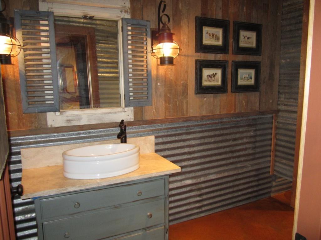 DIY garage bathroom