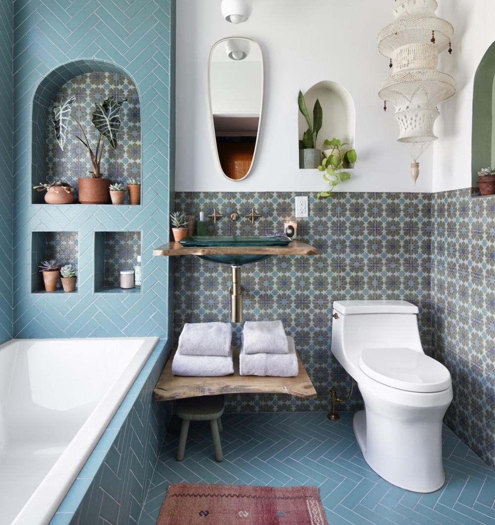Great boho bathroom