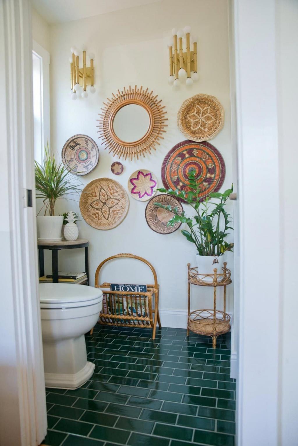 Charming boho bathroom
