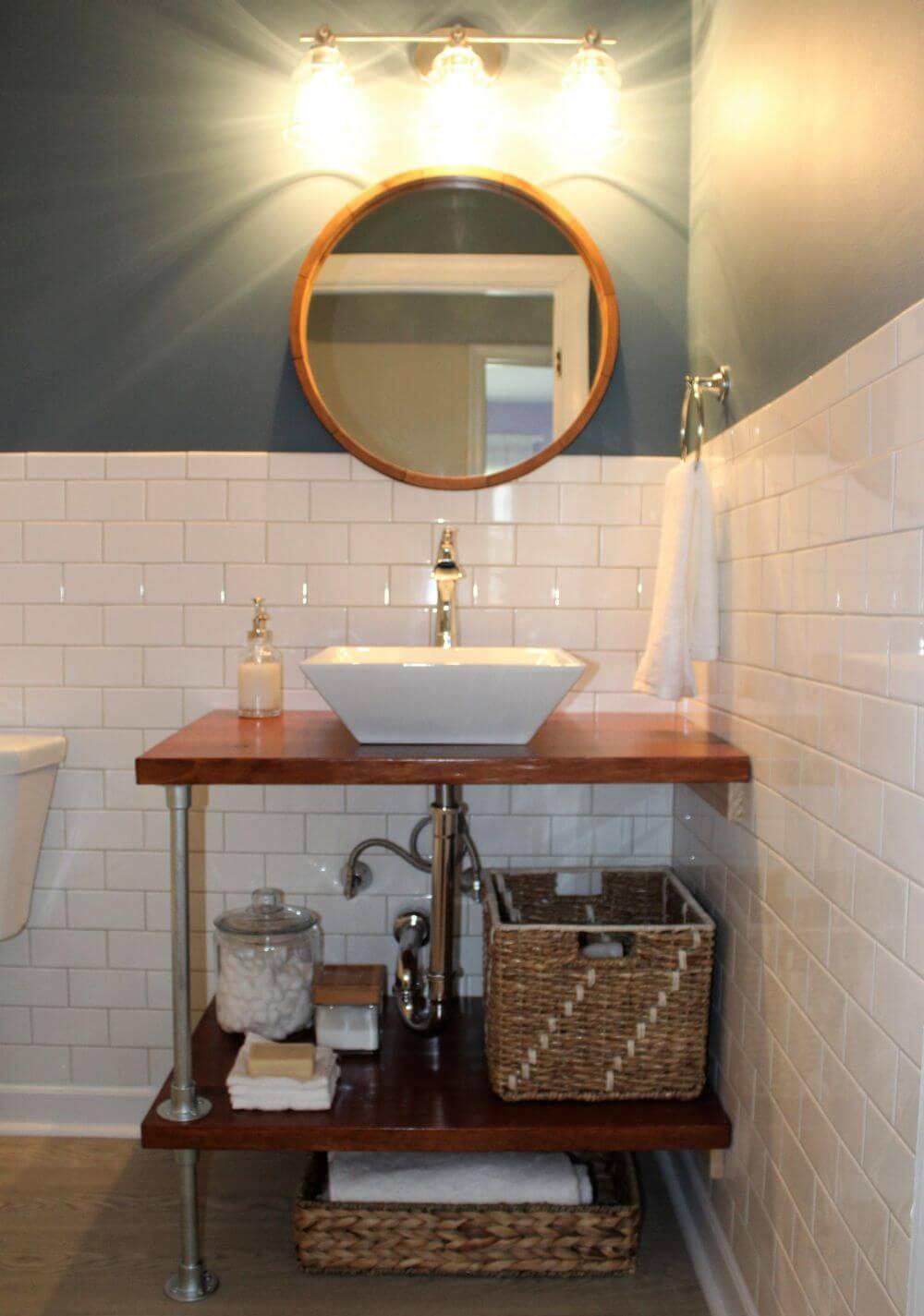 Combo DIY bathroom vanity
