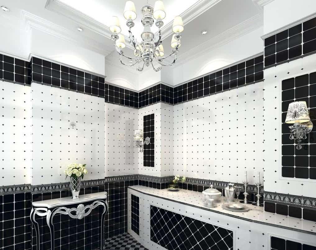 Nice black bathroom
