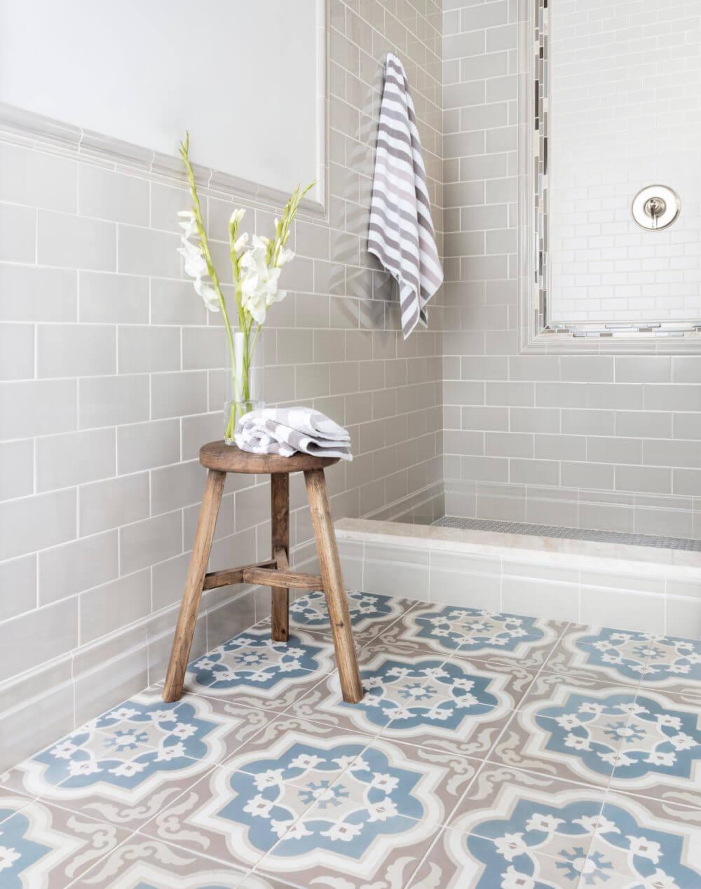 Attractive bathroom floor