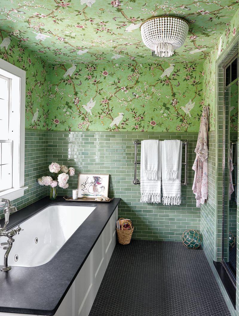 Charming bathroom wall