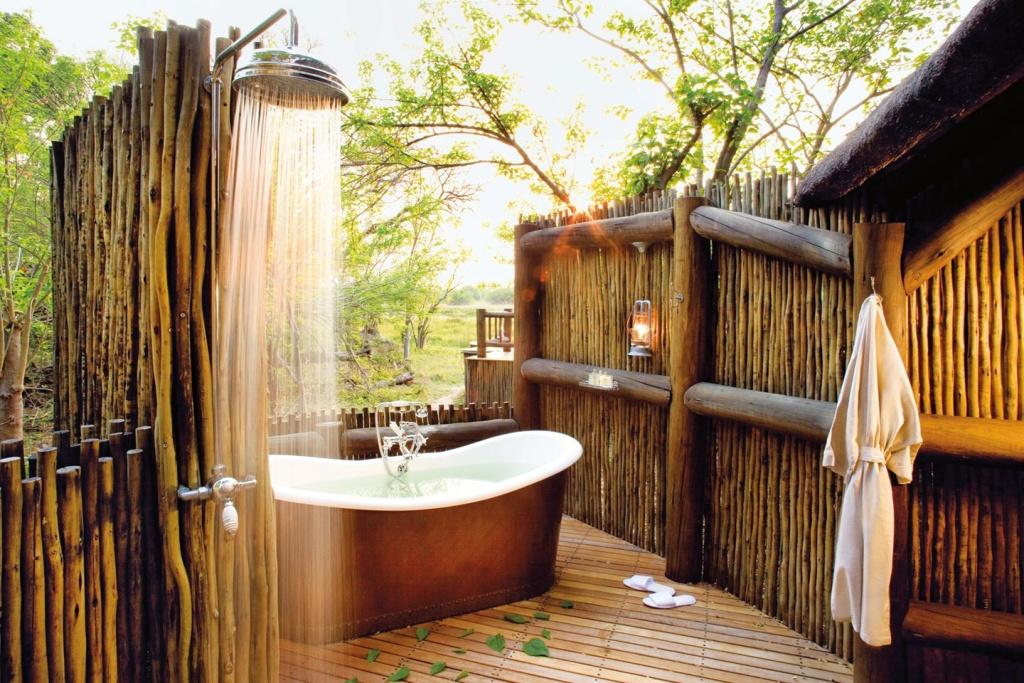 Natural outdoor bathroom