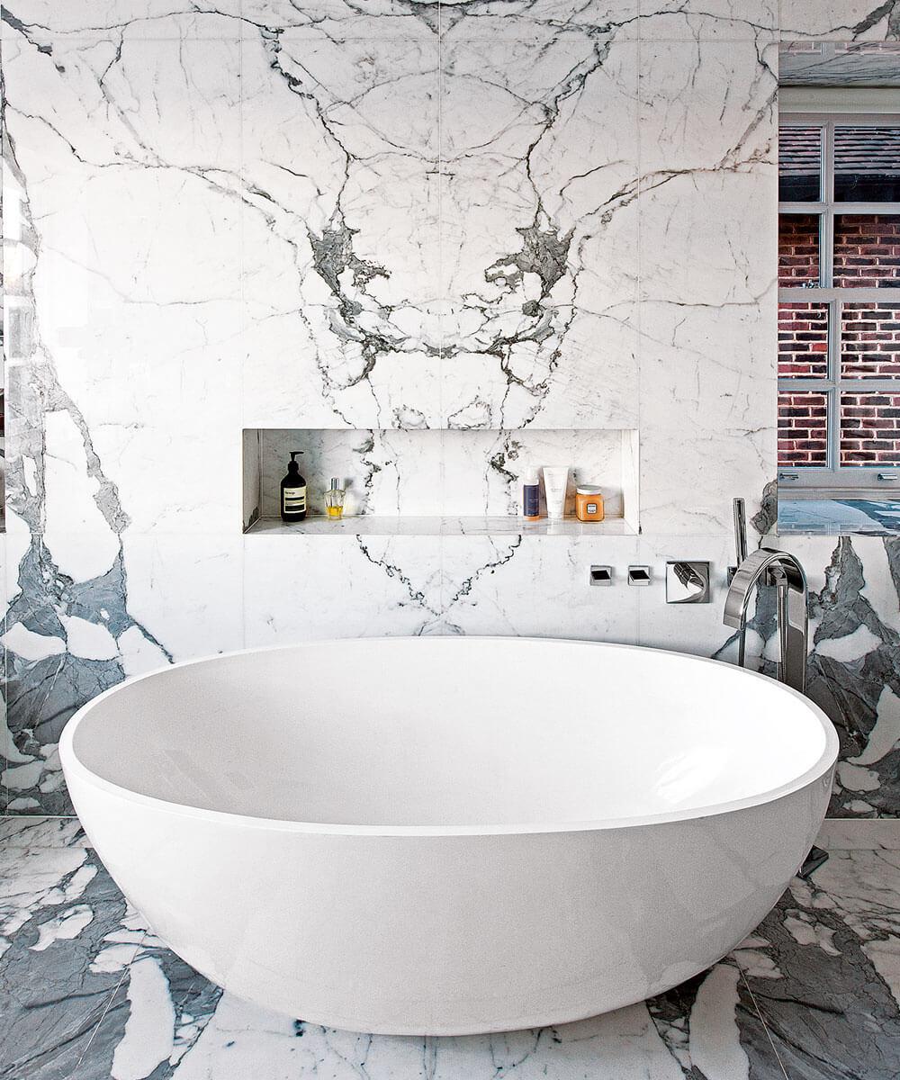 Unique marble bathroom