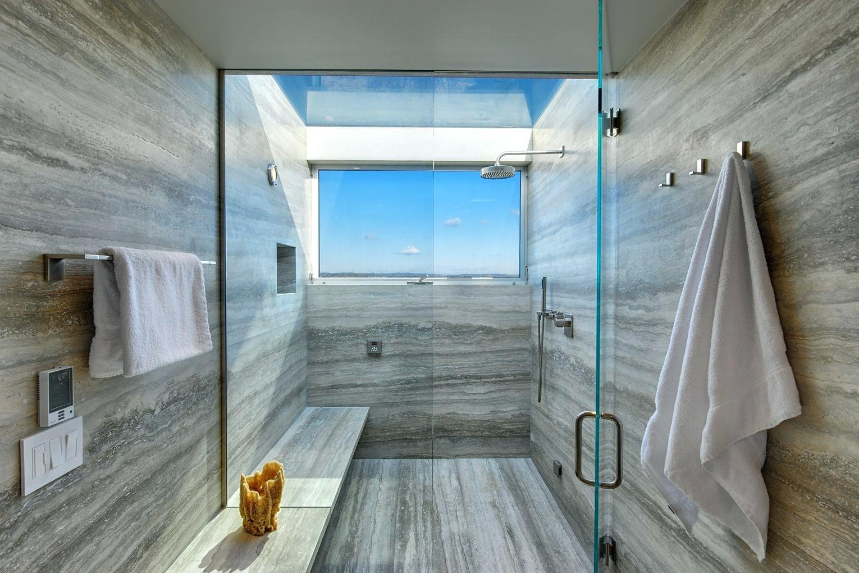 Minimalist bathroom by the sea