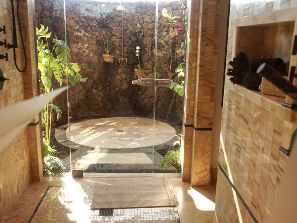 Wonderful outdoor bathroom