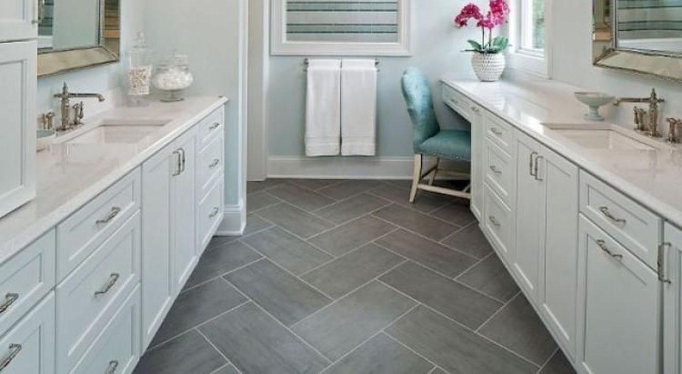 Creative bathroom floor