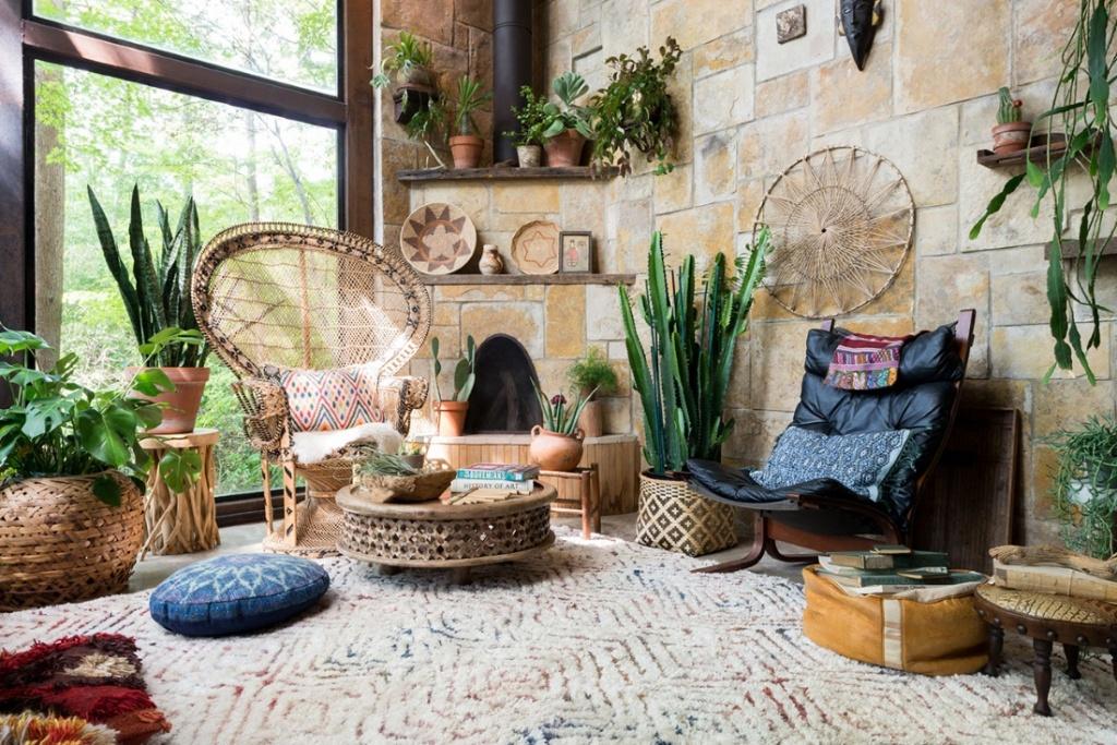 Natural meditation room
