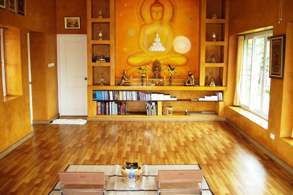 Bright meditation room