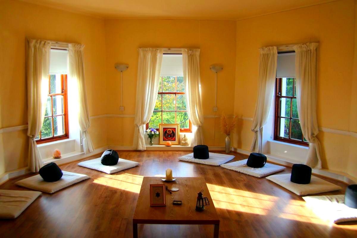 Quiet meditation room