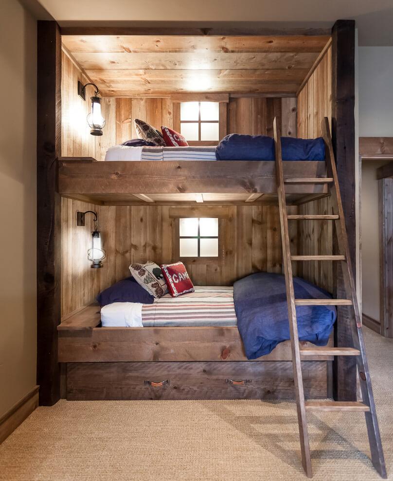 Cool brown bedroom