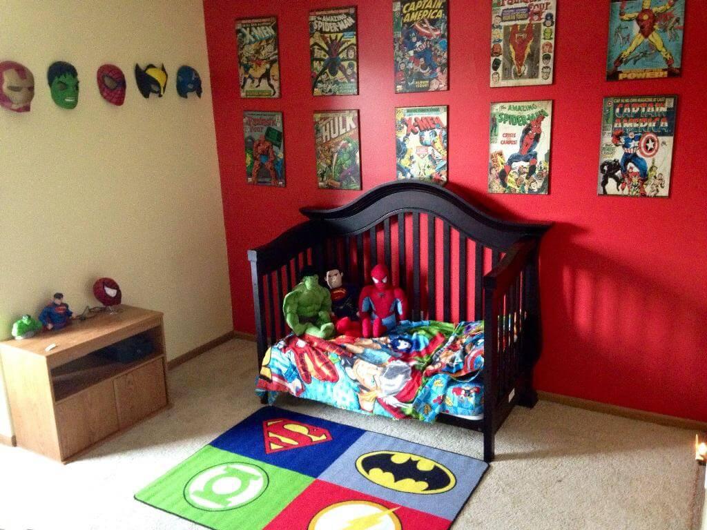 Interesting superhero bedroom