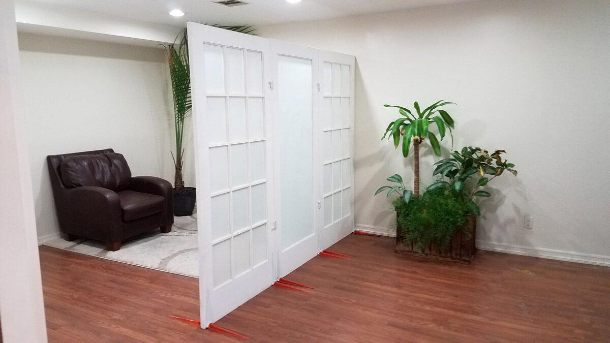 Door as a room divider