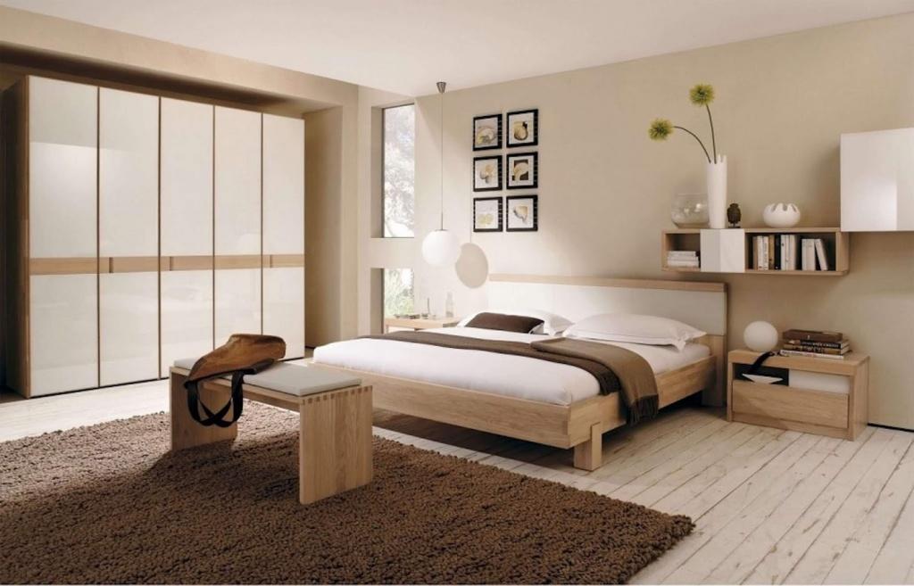 Bedroom in mild beige