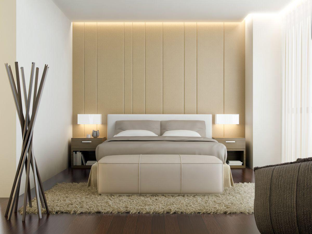 Formal beige bedroom