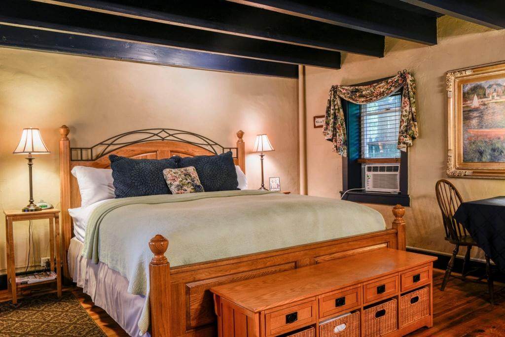 Warm cottage bedroom