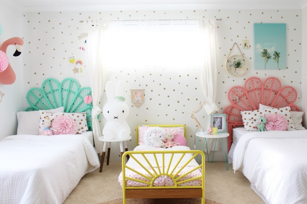 Chic shared bedroom