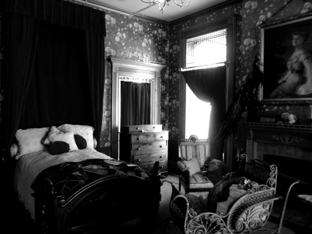Woman's gothic bedroom