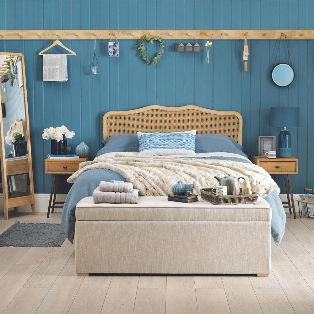 Chic blue bedroom