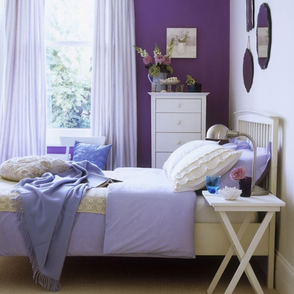 Chic purple bedroom