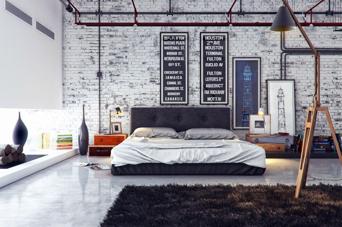 Industrial fixer.  Upper bedroom