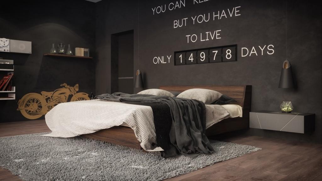 Funny dark bedroom