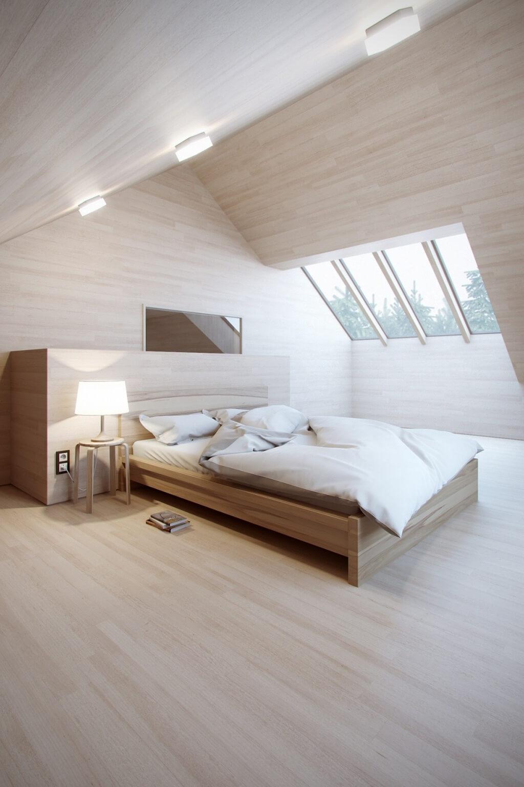 Sunny brown bedroom